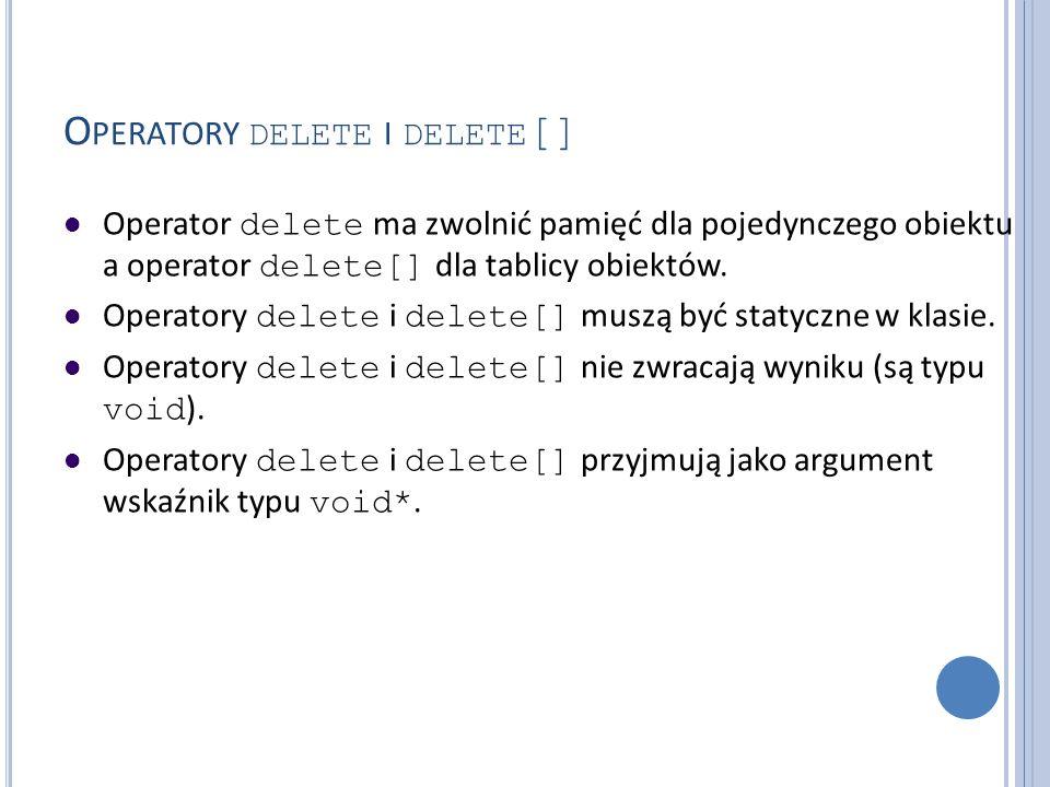 Operatory delete i delete[]